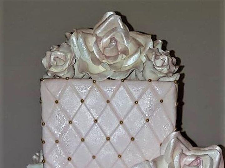 Tmx Blush And Gold Wedding Cake 51 166751 1568652031 Virginia Beach, Virginia wedding cake