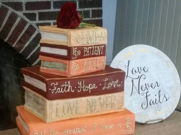 Tmx Book Wedding Cake 51 166751 1568652035 Virginia Beach, Virginia wedding cake