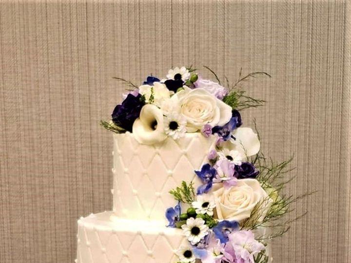Tmx Fresh Flower Cascade 51 166751 1568652056 Virginia Beach, Virginia wedding cake