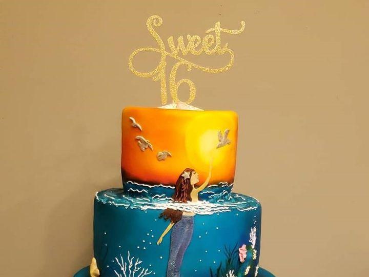 Tmx Mermaid Cake 51 166751 1568652099 Virginia Beach, Virginia wedding cake