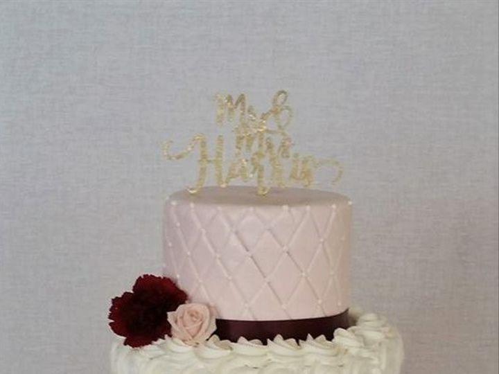 Tmx Pink And Burgandy Wedding Cake 51 166751 1568652108 Virginia Beach, Virginia wedding cake