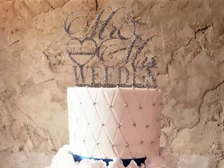 Tmx Quilt Pattern With Silver Pearls Wedding Cake 51 166751 1568652123 Virginia Beach, Virginia wedding cake