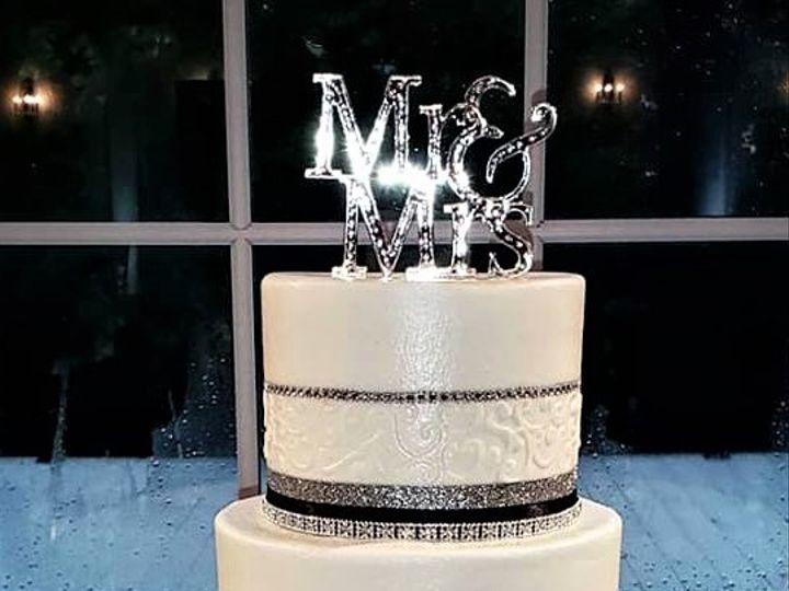 Tmx Silver And Black With Scrolls 51 166751 1568652097 Virginia Beach, Virginia wedding cake