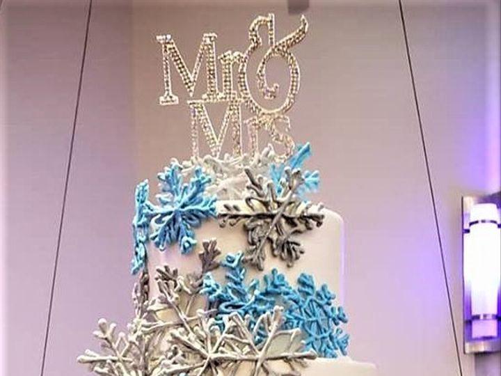 Tmx Snowflake Cake 51 166751 1568652103 Virginia Beach, Virginia wedding cake