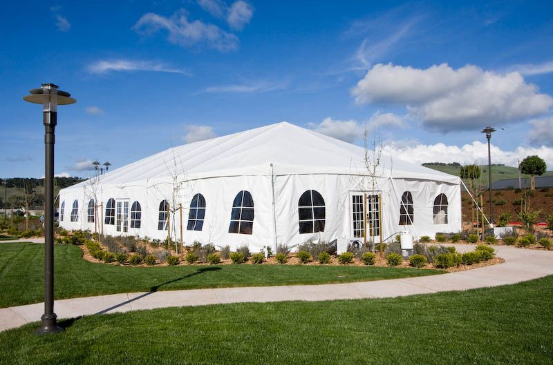 Tent wedding reception venue