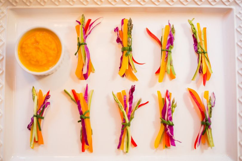 crudite with carrot-ginger dipping sauce