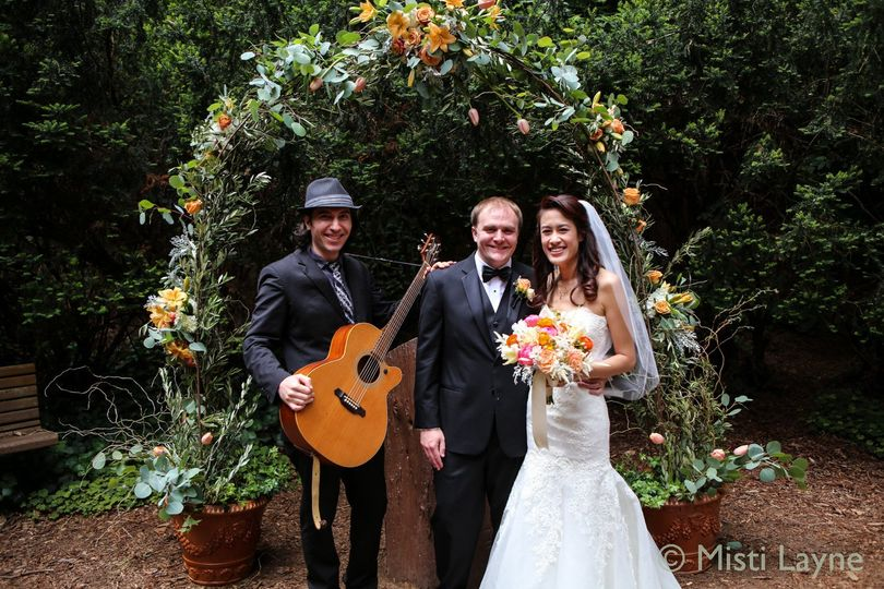 Wedding ceremony at the San Francisco's Conservatory Of Flowers.