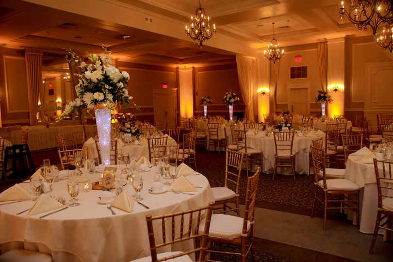 Raised centerpieces and lighting