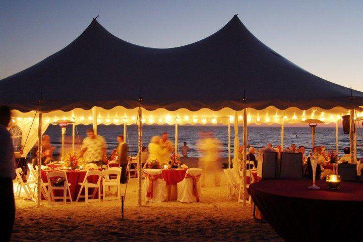 Tent reception area