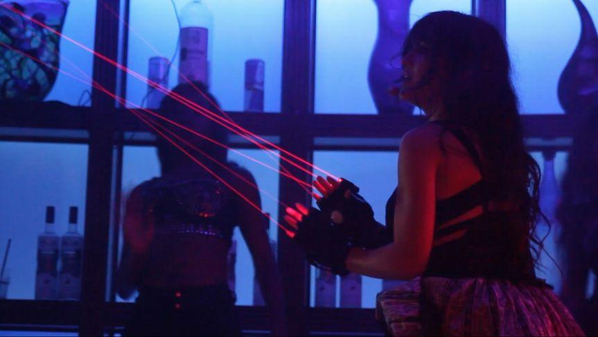 Laser singer show