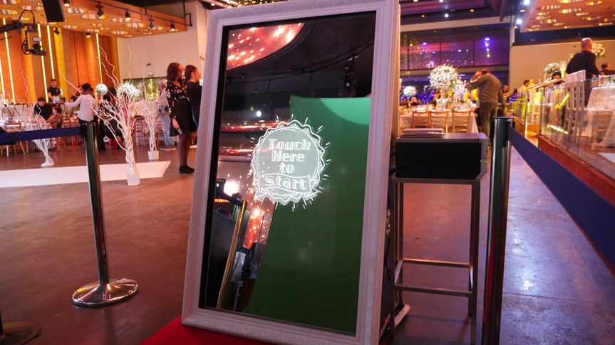 Open air booth