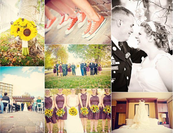 Such a beautiful fall wedding- and check out those shoes!