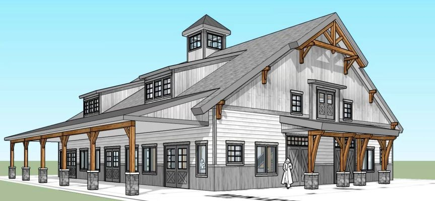 The barn at stoney hills render
