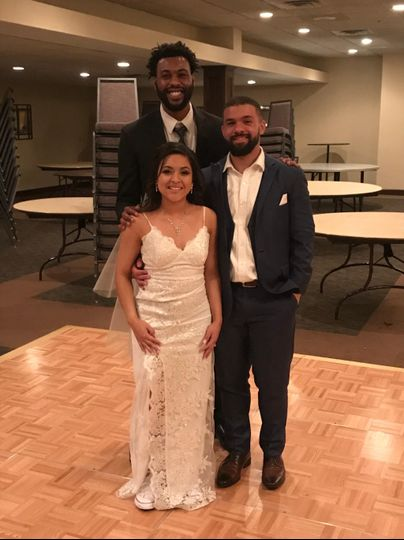 With another happy couple