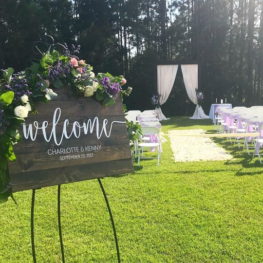 Wedding outdoor venue