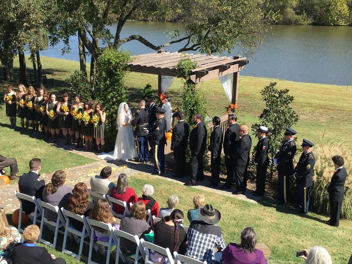 Military wedding ceremony
