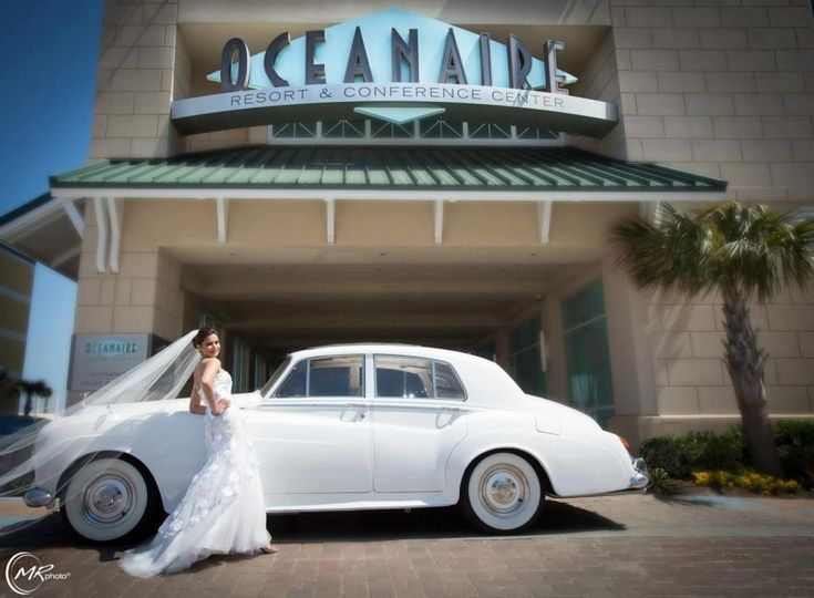 Bride with the car