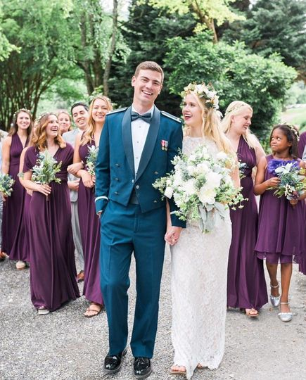 The newlyweds with the bridesmaids | Photo by Brittney Naylor