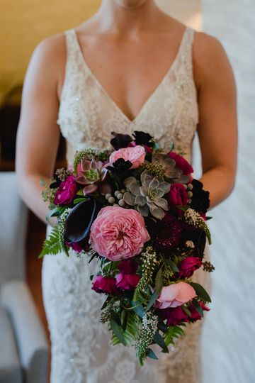 Jewel-tone bouquet
