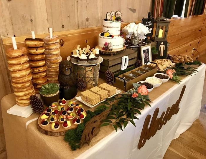 Doughnut and s'mores table