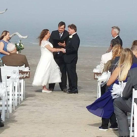 Nice Beach Ceremony