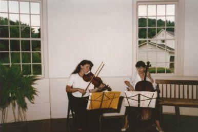 Strings duo rehearsal