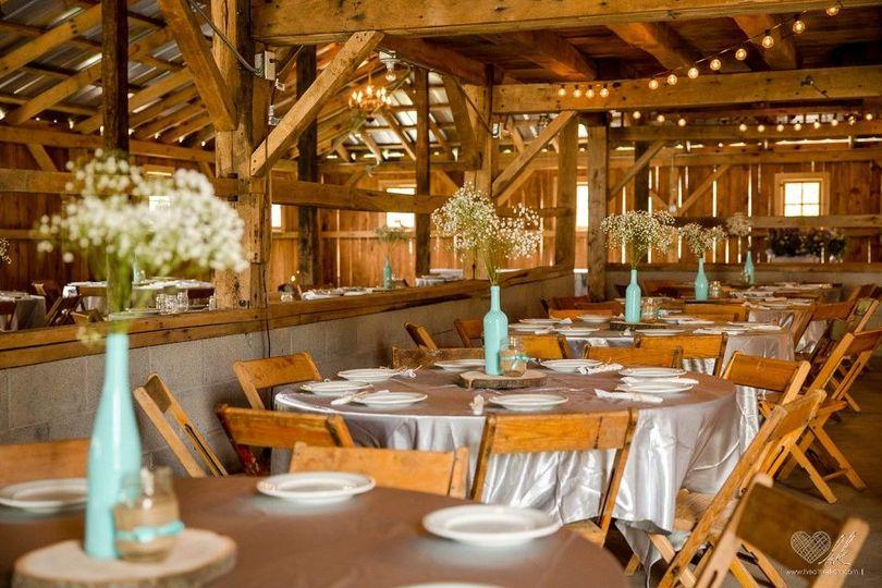 Wedding recepton area