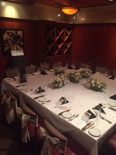 An intimate wedding event