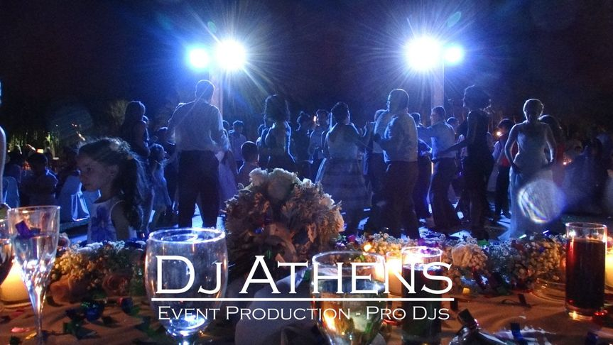 Dance floor lighting created from Dj Athens wedding entertainment company in Greece