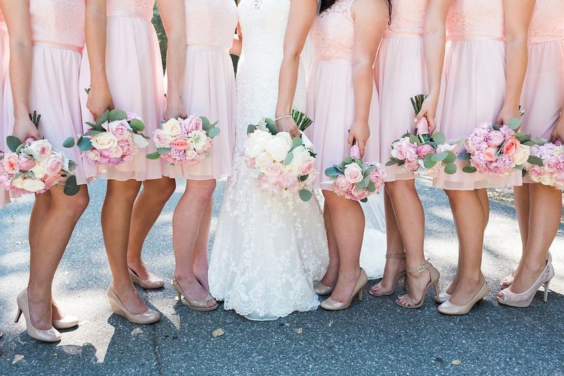 Bride with the bridemaids