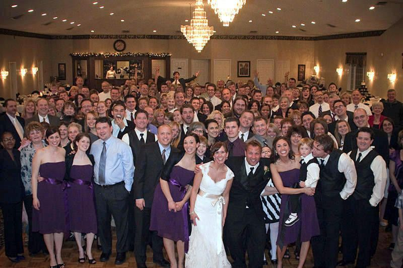 Love the group shot of all of the 200+ guests