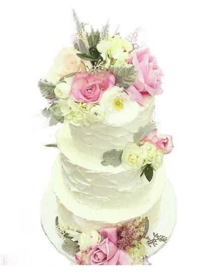 White fluffy cake