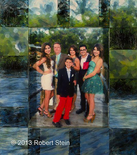19X22 Mixed media family portrait