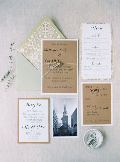 Katherine & Eric included postcards from our gift shop with their invitations. Photography by...