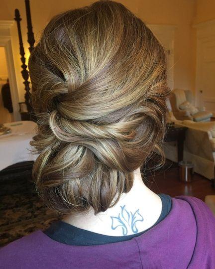 Brunette bun