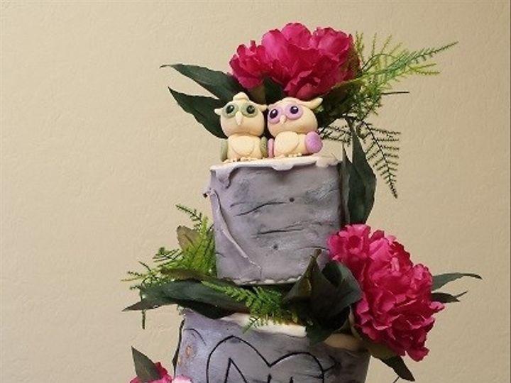 Tmx 1434399468026 Topsy Turvy Birch Tree Wedding Cake Lebanon wedding cake