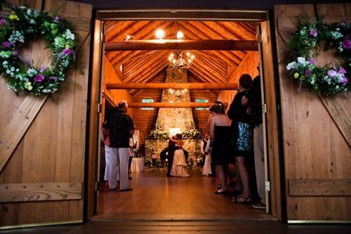 First Dance inside the Log Cabin