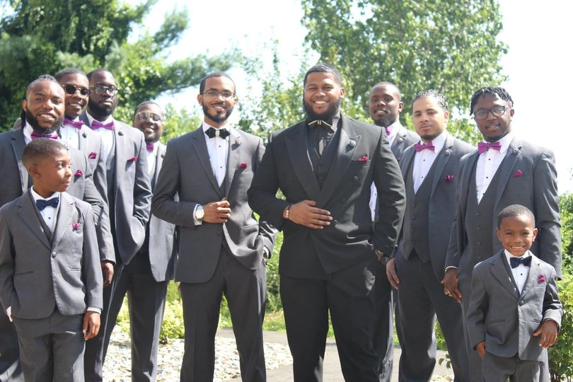 Marcus & his groomsmen