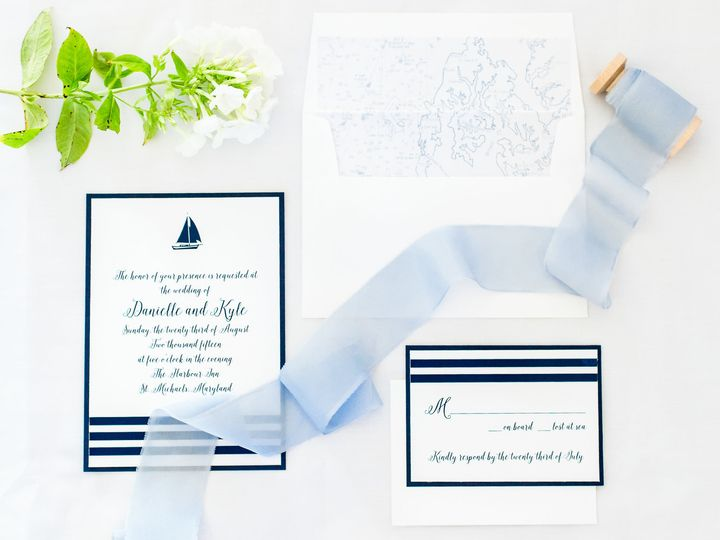 Tmx 1484065934938 St Michaels Nautical Wedding Editorial Laurens Fav Annapolis wedding invitation