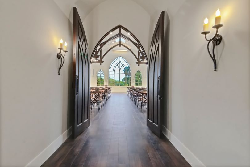 Chapel Hallway and doors
