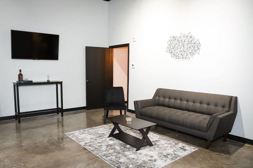 Grooms lounge area