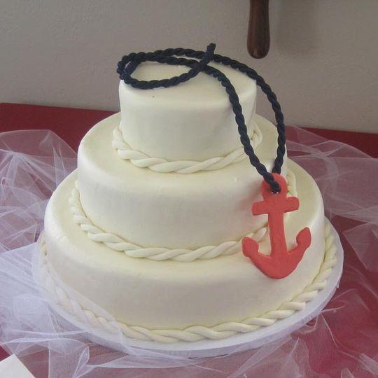 Nautical-themed cake