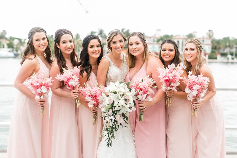 Hair and makeup for our beautiful bridal party