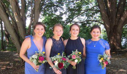 Blue House Floral
