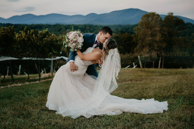 Portrait of the happy couple sharing a kiss