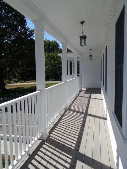 Elegant white porch