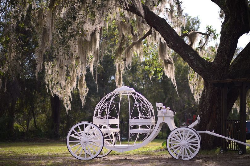 Cinderella carriage photo op