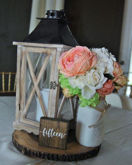 Blush pink floral centerpiece option