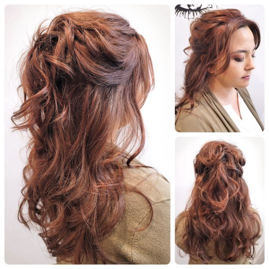 Bridal hairstyle!