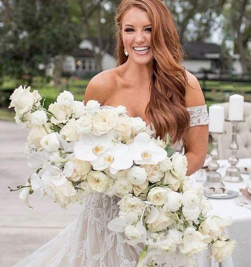 Supper large bridal bouquet